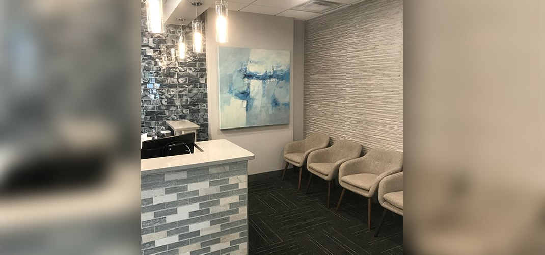 Seating in orthodontic office waiting room
