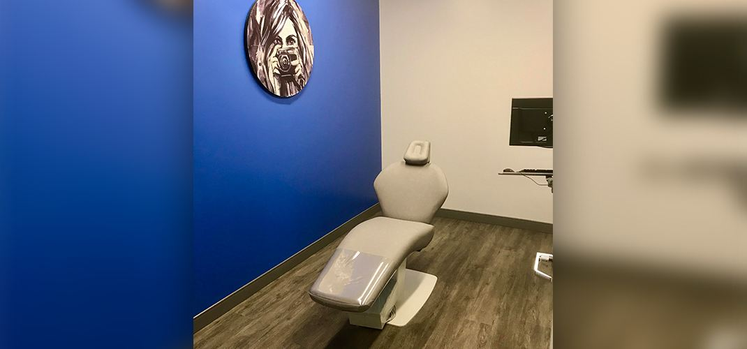 White orthodontic treatment chair